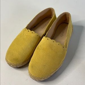 Talbots Leather Suede Izzy Espadrilles Shoes